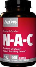 Jarrow Formulas N-A-C N-Acetyl-L-Cysteine 500mg 200 capsules