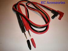 Multimètre test leads sonde Rouge & Noir remplacement test numérique paire câble