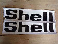 testo di SHELL Extra Large Nero & Bianco adesivi gara