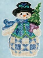 Mill Hill - Jim Shore - Evergreen Snowman - Beaded Cross Stitch Kit - JS20-5101
