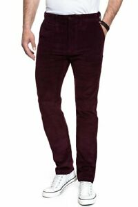 Levi's Premium 502 Regular Taper Chinos Corduroy Cherry Trousers Pants All Sizes