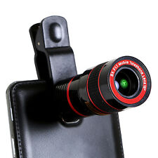 Universal Clip-on 8x Optical Zoom HD Telescope Camera Lens For Cell Phone iPhone