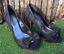 Girl Xpress High Heels Open Toe Platform Black size 8
