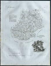 Lot - 1830 - Carte du département - Atlas Michel, Lorrain - Gravure