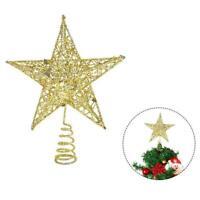 Christmas Tree Topper Gold Star Decoration Xmas Tree Ornament AU Top Shiny R0C3