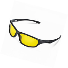 Duduma Yellow Night Vision Polarized Sunglasses Glasses for Driving Fishing Shoo