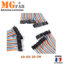 Dupont Fil Jumper Cable 10 20 cm Type MM FF MF 2.54 | Arduino proto DIY KIT