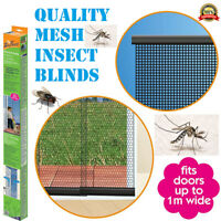 Door Blinds mesh Insect Screen Control Fly Mosquito Protection WEIGHTED QUALITY