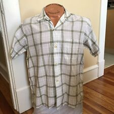 Vintage Mens Townley Short Sleeve Shirt L Plaid