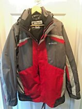 ~NEW COLUMBIA 3-IN-1 CARBONADO CREST PARKA - OMNI SHIELD - RED AND GREY~ W/TAGS