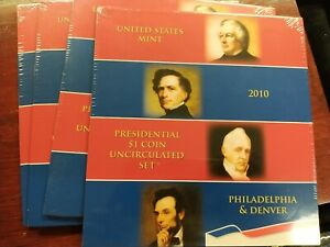 2010 United States Mint Presidential $1 Uncirculated Set P & D Mint Sealed OGP
