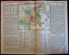 China Korea Asia Geographical Historical religion 1821 Carey large engraved map