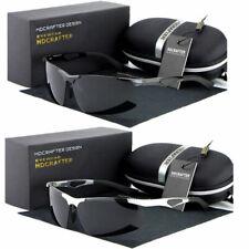 Black Polarized Wrap Men Glasses Outdoor Sports Eyewear Driving Uv Sunglasses