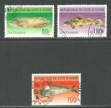 Ivory Coast 1996 Local Fish--Attractive Topical (984-86) fine used