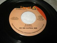 "FIVE MAN ELECTRICAL BAND SIGNS 45 7"" NM US LIONEL ORIGINAL VINYL LISTEN"