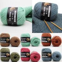 1 ball 100g Yak Crochet Yarn Knitting Wool Knitted Thick DIY Cashmere 30 Colors