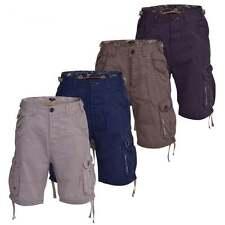 Firetrap Cotton Patternless Cargo, Combat Shorts for Men