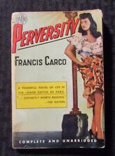 1928 PERVERSITY by Francis Carco G/VG 3.0 Avon #302 Paperback
