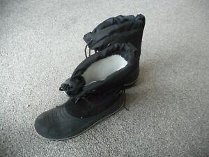 Cortina black Snow Boots Men's Size UK 10.5