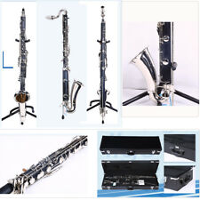 New Bass Clarinet Low Eb Bb key Ebonite Wood Body Professional Sound Pads Case