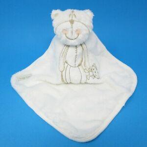 Cherokee Tesco cream teddy bear baby comforter beige blankie doudou toy