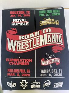 WWE Road to Wrestlemania 2020 Tour Wrestling Size 2XL T-Shirt Local Crew New