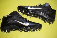 NIKE Flywire Football Cleats sz 13.5 Alpha Pro 3/4 black metallic 579636 002 NEW