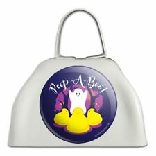 Peep A Boo Ghost Halloween White Metal Cowbell Cow Bell Instrument