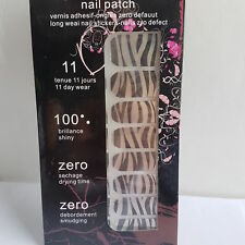 16 Silver & Black Zebra Design Nail Patch Foils for Nails