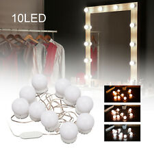 Hollywood LED Vanity Mirror Lights Kit 10 Dimmable Bulbs For Makeup Dressing PE
