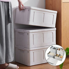 Foldable Stackable Slidable Multi Purpose Storage Container Box Books Bedsheets