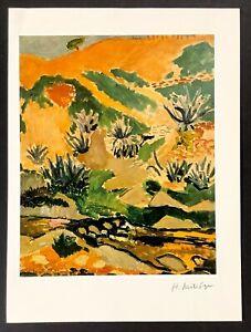 Hand signed signature - Henri Matisse - vintage Circa 1940s print