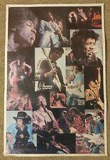 Jimi Hendrix 1976 collage poster Dargis Associates