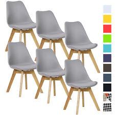 Esszimmerstühle 6 x Esszimmerstuhl Design Stuhl Küchenstuhl Holz Grau BH29gr-6