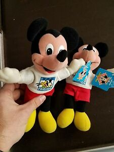 """LOT OF 2 New With Tags APPLAUSE Disney ~ Mickey Mouse Best Friends 11"""" Stuffed"""