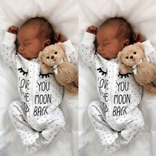 Cotton Newborn Infant Kids Baby Boy Girl Romper Bodysuit Jumpsuit Clothes Outfit