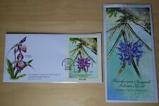 2002 Malaysia 17th World Orchid Conference, MS Serial #001960 on FDC (KL Cachet)