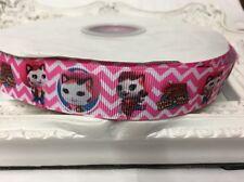 1 Metre Sheriff Callie Pink Print Grosgrain Ribbon Designer 22mm Cakes Bow Dummy