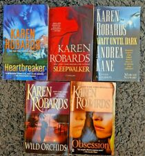 KAREN ROBARDS NOVELS PAPERBACK 5 BOOK LOT ROMANTIC SUSPENSE FREE SHIPPING!