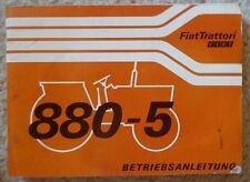 Fiat Schlepper 880-5 und 880-5 DT Betriebsanleitung
