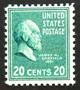 825 MNH 1938 20c James Garfield President Union General Civil War Latin Greek
