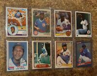 (8) Lee Smith 1982 1983 Topps Fleer Donruss Rookie 2nd Card Lot RC Cubs HOF