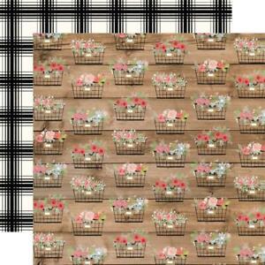 "Carta Bella - Farmhouse Market - BASKETS - 12x12"" d/sided paper"