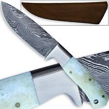 Pattern Welded Damascus Steel Hunting Knife Camel Bone Handle Handmade FULL TANG