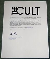 The Cult Choice of Weapon 2012 album Press Release Kit Promo Media sheet