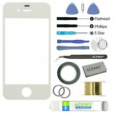 ACENIX® Apple iPhone 4 / 4s White Touch Screen Front Lens Glass Replacement Kit