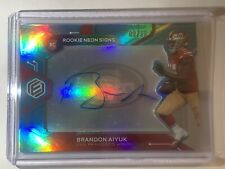 2020 Panini Elements BRANDON AIYUK Rookie Neon Signs BLUE PRIZM AUTO /50! WOW!