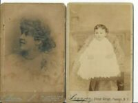 4 Cabinet Cards Family Portraits Victorian Edwardian W.Mercer Lovejoy Studios