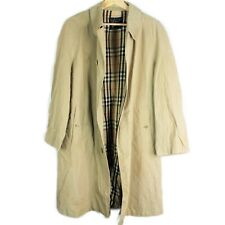 Vintage Burberry's London Trench Coat Tan Women's Nova Plaid Check