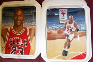 """1997 ISSUE """"MICHAEL JORDAN"""" Limited Edition """"COLLECTOR PLATES"""": Set of FIVE (5)"""